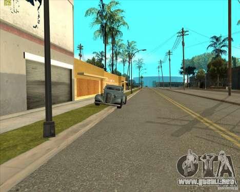 Car in Grove Street para GTA San Andreas octavo de pantalla