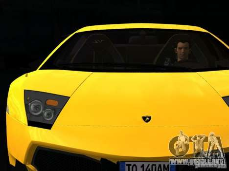 Lamborghini Murcielago LP670-4 sv para vista inferior GTA San Andreas