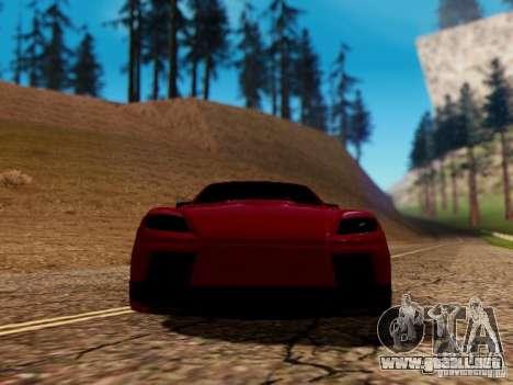 Mazda RX8 Reventon para vista lateral GTA San Andreas