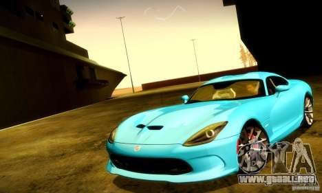 Dodge Viper SRT  GTS para GTA San Andreas interior