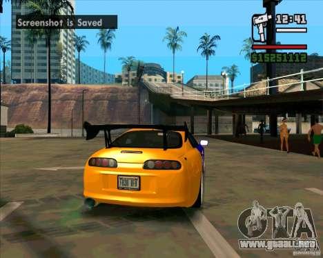 Toyota Supra Drift para GTA San Andreas vista posterior izquierda