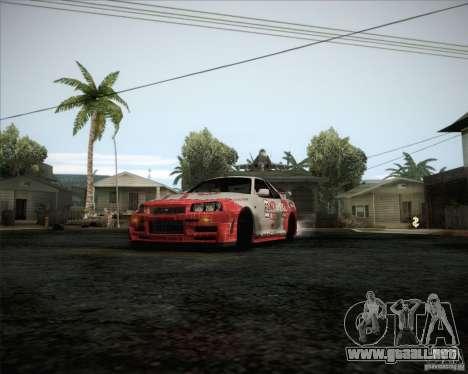 Nissan Skyline Z-Tune v2.0 para visión interna GTA San Andreas