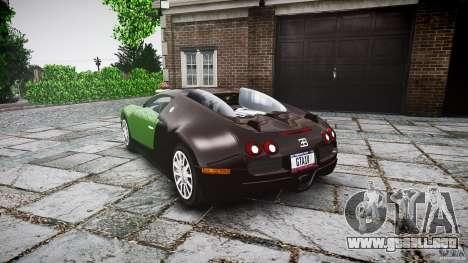Bugatti Veyron 16.4 para GTA 4 Vista posterior izquierda