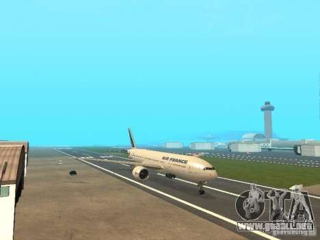 Boeing 777-200 Air France para GTA San Andreas left