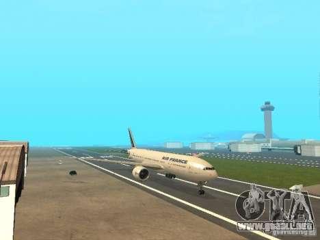 Boeing 777-200 Air France para GTA San Andreas left