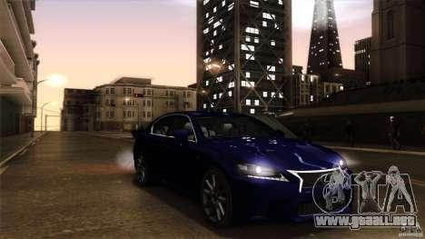 Lexus GS350F Sport 2013 para la visión correcta GTA San Andreas