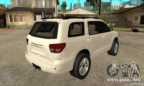Toyota Sequoia para la visión correcta GTA San Andreas
