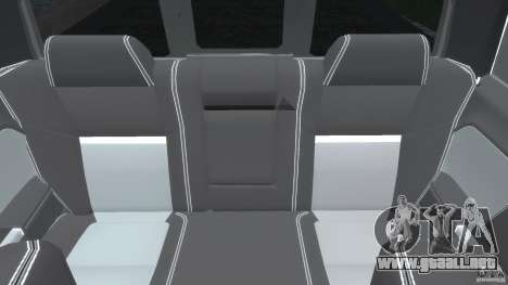 Dodge Ram 3500 2010 Monster Bigfut para GTA 4 vista desde abajo