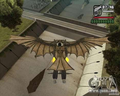 Máquina voladora de Leonardo da Vinci para GTA San Andreas