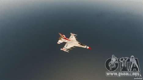 F-16C Fighting Falcon para GTA 4 vista lateral