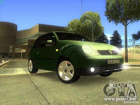 Volkswagen Lupo para vista inferior GTA San Andreas