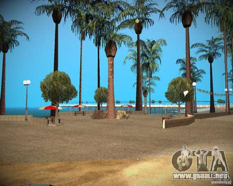 New textures beach of Santa Maria para GTA San Andreas tercera pantalla