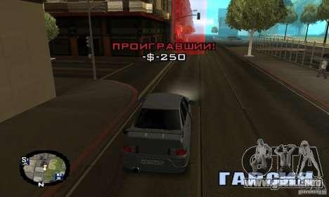 Carreras callejeras para GTA San Andreas octavo de pantalla