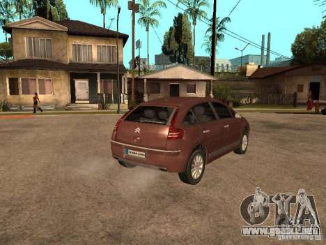 Citroen C4 para GTA San Andreas left