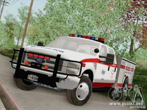 Ford F-350 AMR Supervisor para vista inferior GTA San Andreas