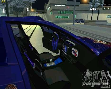 Skoda Octavia III Tuning para visión interna GTA San Andreas