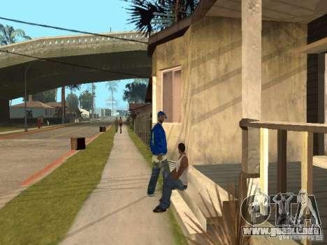 Puede sentarse, fumar, beber whisky, vómitos, es para GTA San Andreas