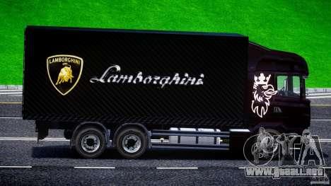 Scania R580 Tandem para GTA 4 vista hacia atrás