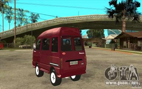 KIA Towner para GTA San Andreas vista posterior izquierda