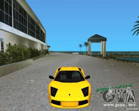 2005 Lamborghini Murcielago para GTA Vice City left
