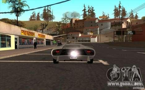 Infernus de GTA 4 para GTA San Andreas vista posterior izquierda