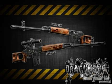 Dragunov sniper rifle v 2.0 para GTA San Andreas