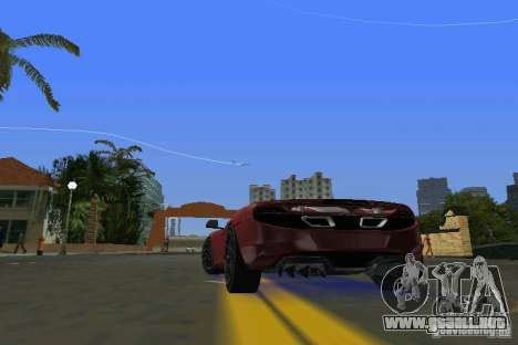 McLaren MP4-12C para GTA Vice City vista lateral izquierdo