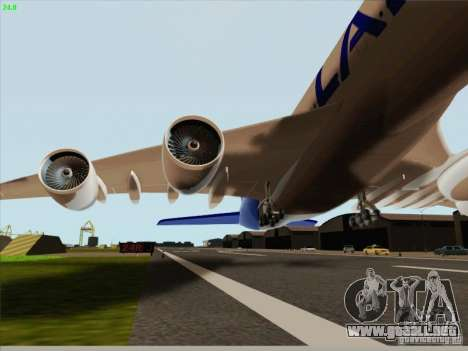 Airbus A380-800 Lan Airlines para visión interna GTA San Andreas