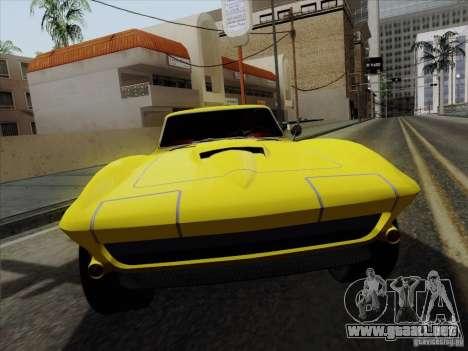 Chevrolet Corvette 1967 para la visión correcta GTA San Andreas