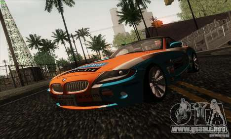 BMW Z4 para vista inferior GTA San Andreas