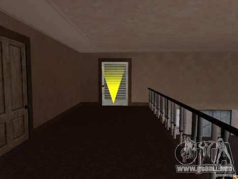 Apartamento secreto para GTA San Andreas quinta pantalla