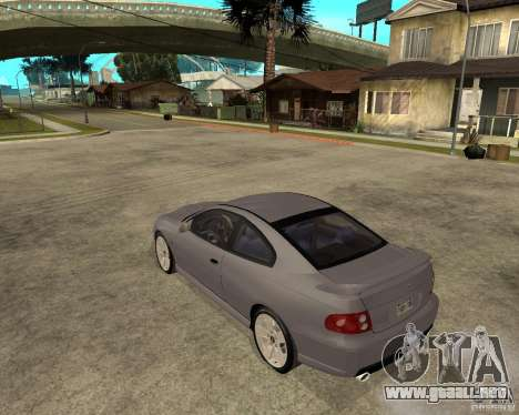 2005 Pontiac GTO para GTA San Andreas left
