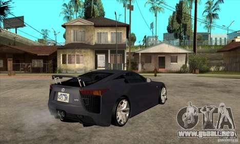 Lexus LFA 2010 v2 para la visión correcta GTA San Andreas