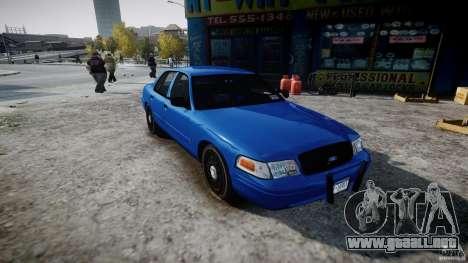 Ford Crown Victoria Detective v4.7 [ELS] para GTA 4 visión correcta