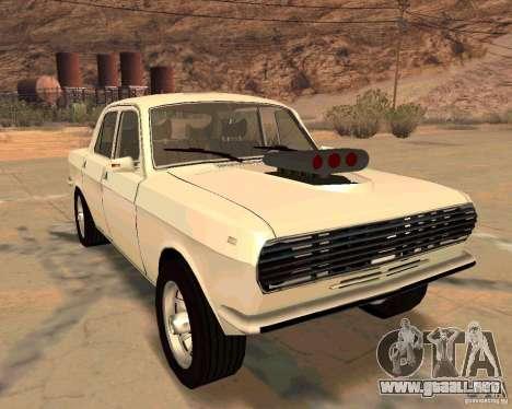 GAZ Volga 2410 caliente Road para la vista superior GTA San Andreas