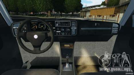 Saab 900 Coupe Turbo para GTA 4 vista hacia atrás
