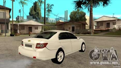 Chevrolet Epica 2008 para la visión correcta GTA San Andreas