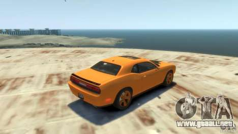 Dodge Challenger SRT8 para GTA 4 vista hacia atrás