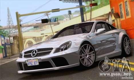 Mercedes-Benz SL65 AMG Black Series para la vista superior GTA San Andreas