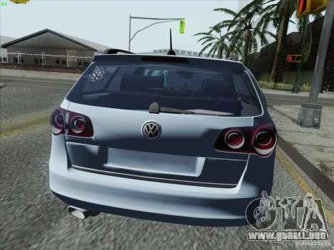 Volkswagen Passat B6 Variant Stance 2007 para GTA San Andreas vista posterior izquierda