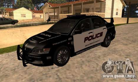 Mitsubishi Lancer Evo VIII MR Police para GTA San Andreas