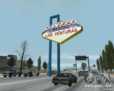 Real New Vegas v1 para GTA San Andreas sucesivamente de pantalla