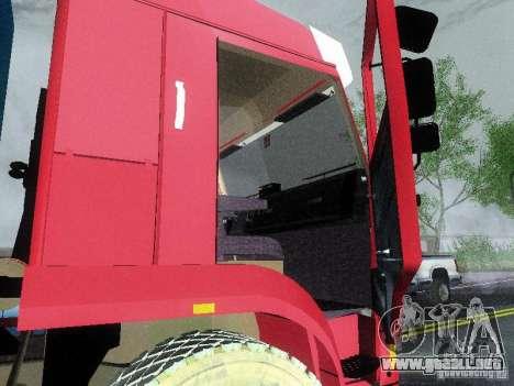KAMAZ 65117 para GTA San Andreas vista hacia atrás