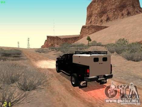 Dodge Ram 3500 Unmarked para GTA San Andreas vista posterior izquierda
