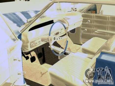Chevrolet Impala 4 Door Hardtop 1963 para GTA San Andreas vista hacia atrás