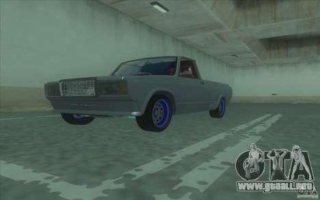 Lada 2107 Street Racing para la visión correcta GTA San Andreas