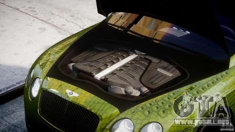 Bentley Continental SS 2010 Suitcase Croco [EPM] para GTA 4 visión correcta
