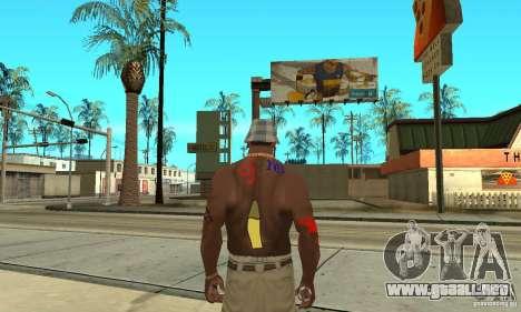 Tatuaje Cool en CJ-que en el cuerpo para GTA San Andreas sucesivamente de pantalla