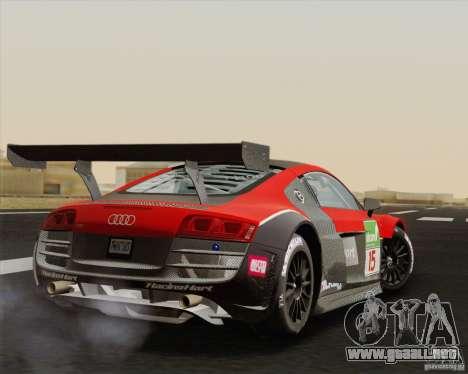 Audi R8 LMS v2.0.1 para la visión correcta GTA San Andreas