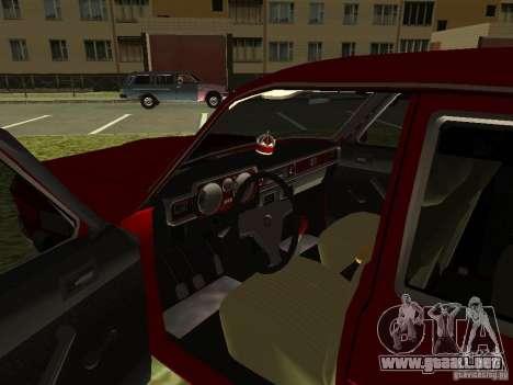 Volga GAZ 24-10 para visión interna GTA San Andreas